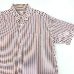Brooks Brothers Mens L Striped Short Sleeve Polo